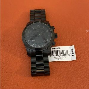 Michael Kors Blacked Out Runway Chronograph Watch